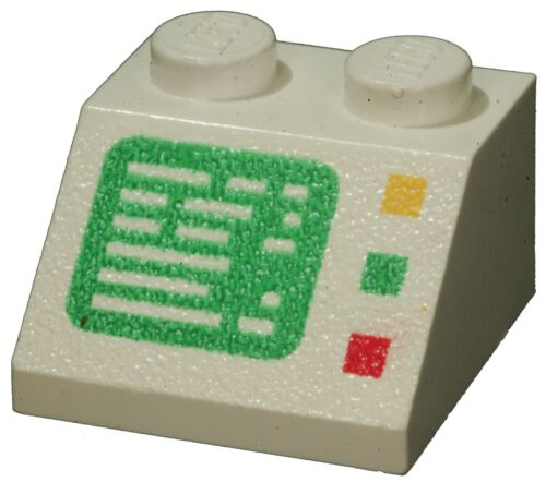 Missing Lego Brick 3039p23 White Slope Brick 45 2 x 2 with Computer Screen Patte