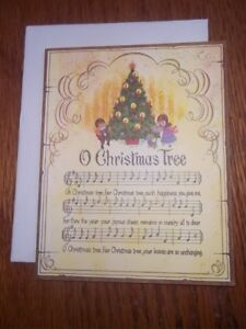 Christmas Card Artist.Details About Vintage Artist Bill Mclauchlan Christmas Card O Christmas Tree Drawing Board