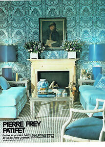 Publicite Advertising 107 1977 Etoffes Papiers Peints Pierre Frey