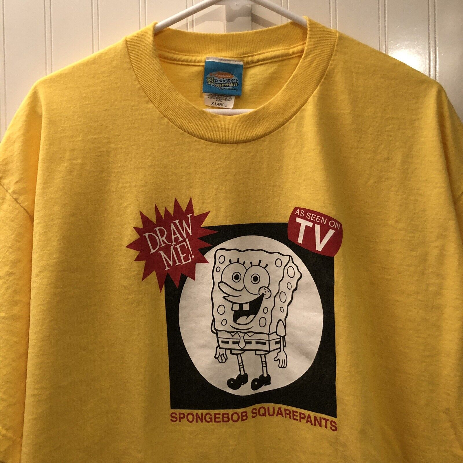 Vintage Spongebob Squarepants T Shirt XL As Seen On TV Graphic Hillenburg RARE