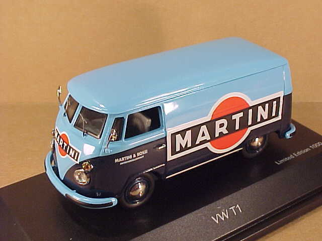 Schuco  43 de Metal Volkswagen T1 Entrega Furgoneta,Martini &