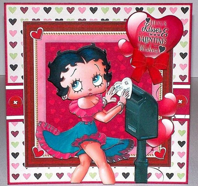 BETTY BOOP Personalised Birthday Card A5 cartoon girl woman