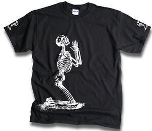 1d64dcc88 Mens Funny Skeleton Prayer T Shirts Sm -3XL Goth Bones Biker Skull ...