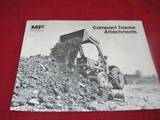 Massey Ferguson Compact Tractor Attachments Dealer's Brochure 819AG 182-10-4