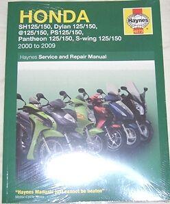 haynes workshop manual honda sh ps sh125 dylan 125 ps125 pantheon rh ebay co uk Honda GX340 Service Manual Honda HR214 Service Manual
