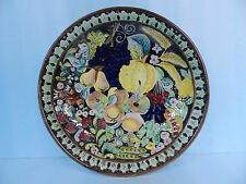 VTG OLD ITALY Hand Paint Ceramic Bas Relief Centerpiece/ Wall hanging Plate/Bowl