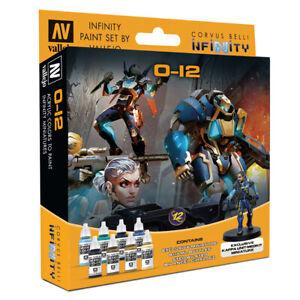 O12-Vallejo-Paint-Set-Infinity-Wargame-Corvus-Belli-Brand-New-VAL70239