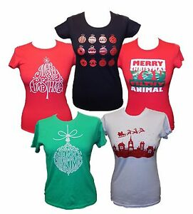 Merry-Christmas-Women-Xmas-Gift-T-shirt-Top-T-Shirt-Novelty-Print-Unisex-party