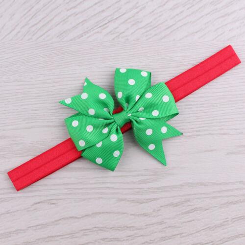 Girls Infant Christmas Headwear Hair Band Bow Headbands Adjustable Accessories