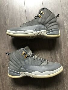 on sale 162b4 9ed2c Details about Nike Air Jordan Retro 12 XII Dark Grey Wolf Gray Suede  130690-005 Men's 11.5