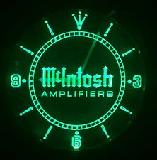 McIntosh Amplifiers Nice Wall Clock Watch  Led Neon Blue Green Red Mc 275 Mc275