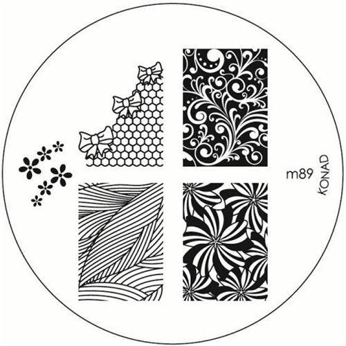 Original Konad Stamping Schablone für Stamping Lack m89