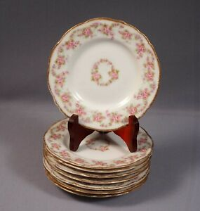 BRIDAL-WREATH-Rose-Limoges-France-LRL-Bread-Butter-Dessert-Plate