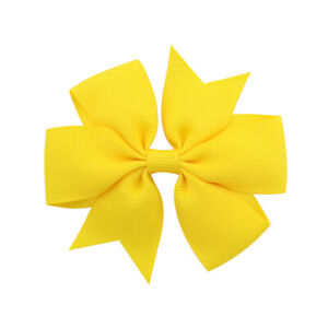Bowknot-Hairpin-Kids-Baby-Sweet-Girl-Hair-Bow-Clip-Hair-Accessories-Yellow
