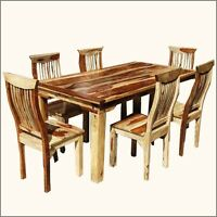amish rustic dining room table set chairs formal casual
