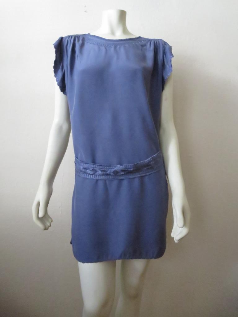 Etoile Etoile Etoile Isabel Marant Lavender Belted Embroidered Silk Shift Dress 2 29297d