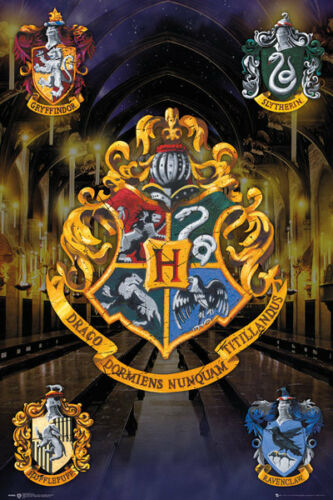 Harry Potter Crests Poster Wizarding World Maxi Poster Print 61x91.5cm24x36