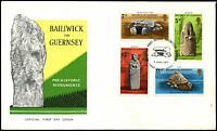 Guernsey 1977 Prehistoric Monuments FDC First Day Cover #C35282
