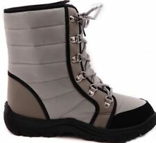 Ladies Winter Snow Walking Boots Silver /Grey / Black Size 39 / UK 6 ( OL155346)