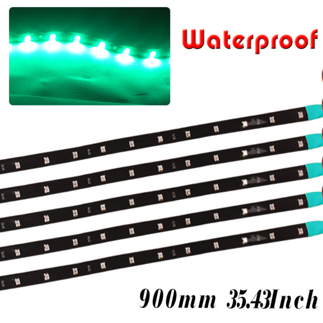 4X 6000K White LED Strip Underbody Light Waterproof Car Motor Boat Blike 12V