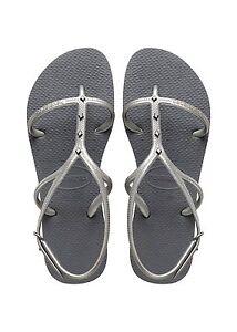 d22dbba6b28dcd Havaianas Brazilian Women`s Flip Flops Allure Maxi Sandal Steel Grey ...