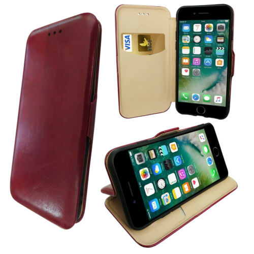 Protective Wallet Phone Case with Media Stand /& Card Slot with Magnetic Clasp