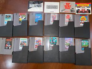 VINTAGE-LOT-OF-12-ORIGINAL-NINTENDO-NES-GAMES-W-STORAGE-CASES-Rare