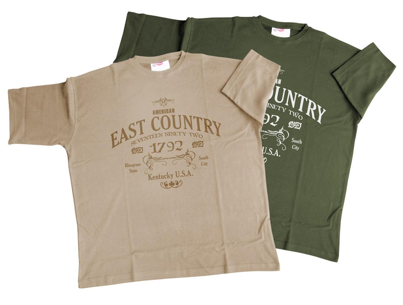 Honeymoon Übergrössen Herren T-Shirt Kentucky im Doppelpack 3XL - 12XL