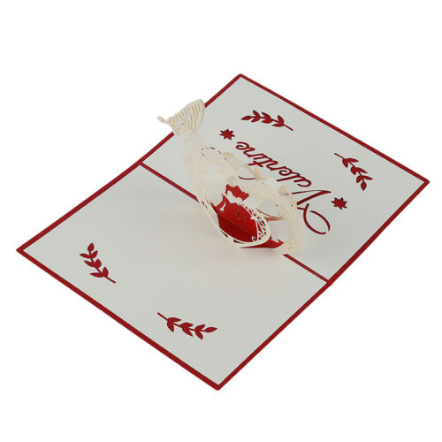 3D  Up Handmade Christmas Card New Year Gifts Wishes Xmas AA