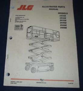 Jlg scissor lift parts manual.
