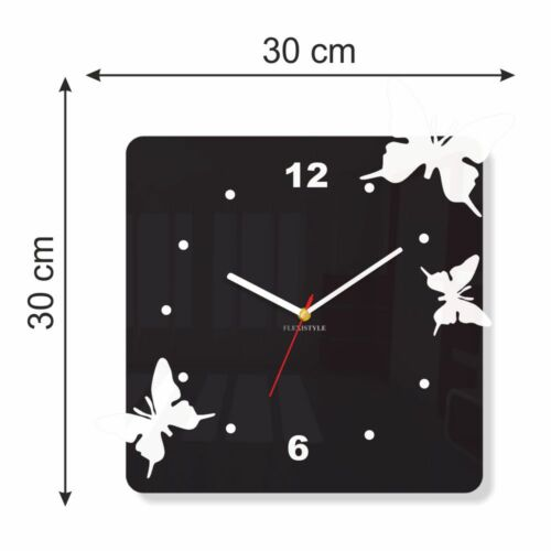 Modern Red Butterfly Large Wall Clock Home Decoration Living Room Bedroom Office