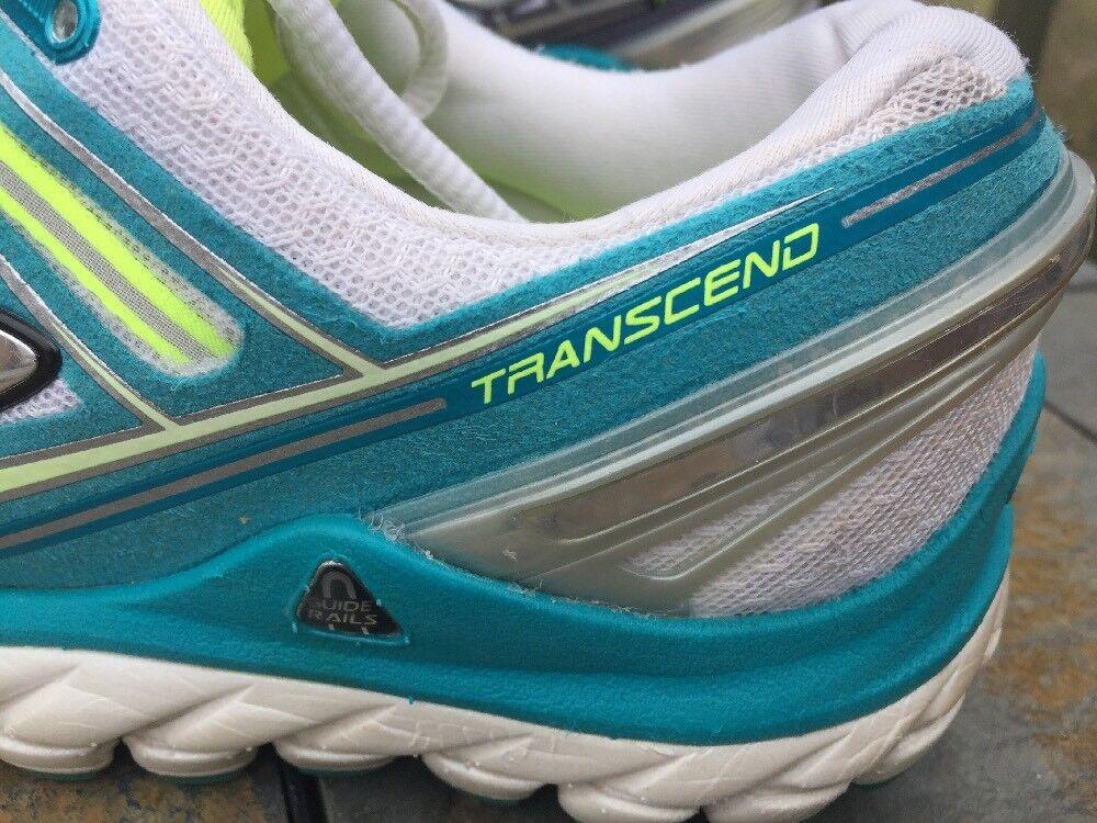 BROOKS Transcend Yoga Running Running Running Walking Training blueE & LIME shoes Womens Sz 11 e3b68f