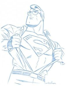 8-1-2-034-x11-034-Convention-Blue-Line-Sketch-by-Superman-Animator-Art-Drawing