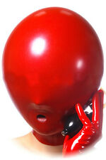 Inflatable latex hood, suffocating gummi rubber mask (Optional color and size)