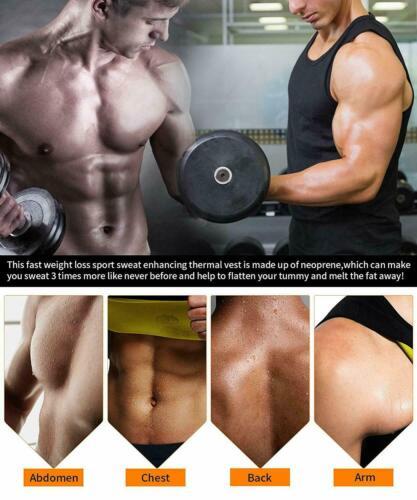 Ultra Lift Body Slimming Shaper Men Hot Sweat Neoprene Sportswear Tank Tops Vest