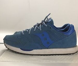 3373bffb1690 SAUCONY DXN TRAINER Women s BLUE Suede Nylon Retro Sneakers Shoes ...