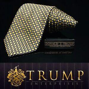 DONALD-J-TRUMP-SIGNATURE-COLLECTION-Black-Gold-Diamond-NECKTIE-POWER-TIE-61