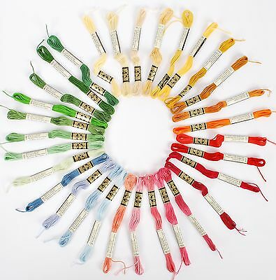 DMC Mouline Special 25 Cross Stitch Thread 16 Skeins x 4 Metre Long 782 Mustard