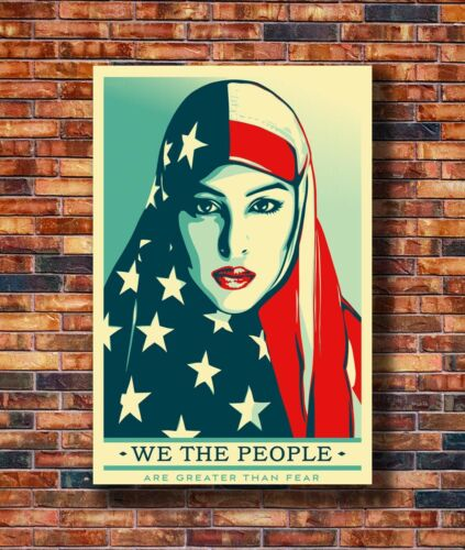 New We The People March Trump Protest Muslim Women Poster 14x21 24x36 Art X-3305
