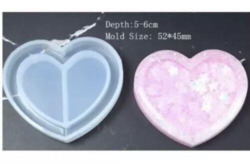 Nuevo Molde Corazón Silicon Coctelera Para Manualidades Resina Epoxi UV y