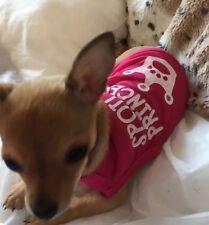 Chihuahua Tamaño Xs Perro Ropa Rosa Spoiled Princesa Top Ropa Para Mascotas,