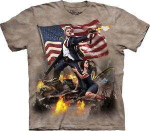 T Clinton Patriotic Adult Mountain Shirt Usa The Unisex ZqEwq4xv