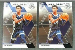 LOT-2-2019-2020-JA-MORANT-Panini-Mosaic-NBA-Debut-274-Rookie-Card-RC