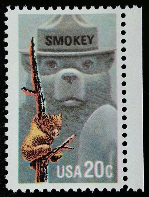 1984 20c Smokey the Bear, Forest Fires Scott 2096 Mint