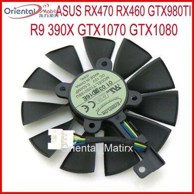 New 87MM ASUS STRIX R9 390X 390//GTX1080//GTX1070 Graphics Card Fan T129215SM 4Pin