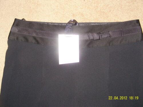 """Bnwt M/&S Per Una Speziale Nero Elegante Pantaloni Tessuto Italiano Taglia 16R 31,5 /""""Gamba"""