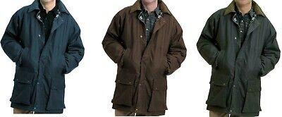 Mens Waterproof Jacket Outdoor Padded Quilted Corduroy Collar Zip Up Rain Coat