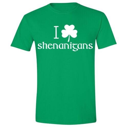St Patricks Day shirt I Clover Shenanigans Irish Unisex Men T-Shirt Green Tee 3
