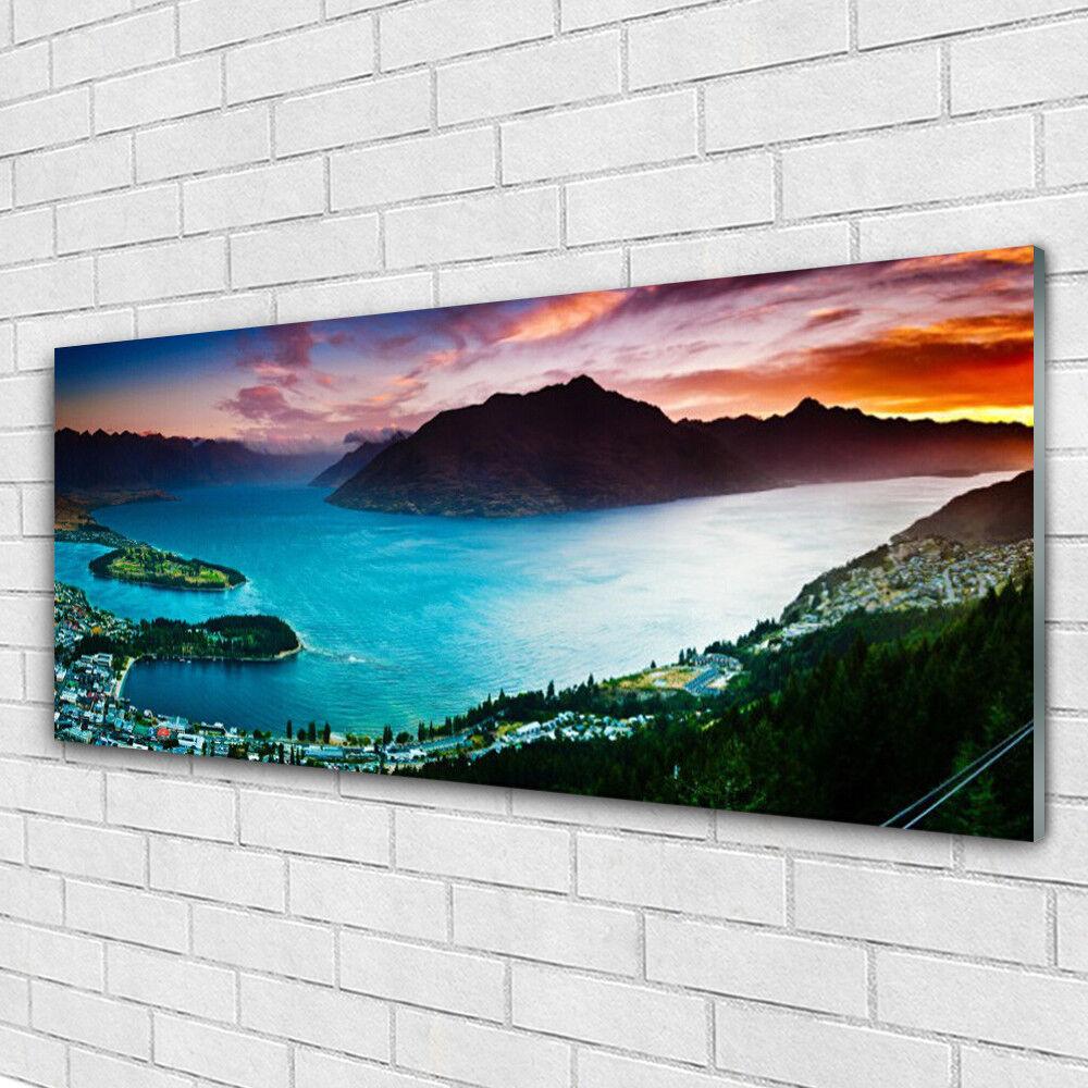 Acrylglasbilder Wandbilder aus Plexiglas® 125x50 Fjord Berge Landschaft