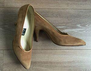 Bollati-Scarpe-donna-decolte-marrone-38-5-tacco-scarpe-usato-vintage-sexy-T884